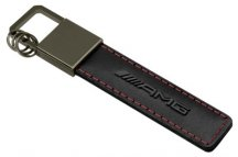 Брелок Mercedes-Benz Key Ring Traffic Red AMG, Black/Red/Silver