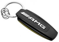 Брелок Mercedes-Benz Key Ring, AMG GT, Black/Silver/Yellow