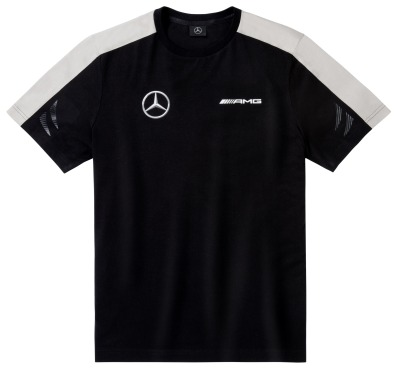 Мужская футболка Mercedes Men's T-shirt, AMG DTM, Black/White/Grey