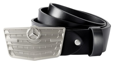 Кожаный ремень Mercedes-Benz Belt, Trucks, Black/Silver-coloured