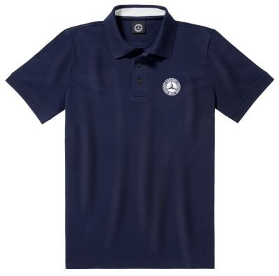 Мужская футболка поло Mercedes-Benz Men's Polo Shirt, Classic, Navy