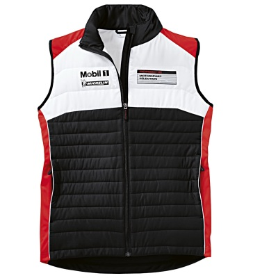 Жилет унисекс Porsche Unisex Vest - Motorsport, Black / White / Red