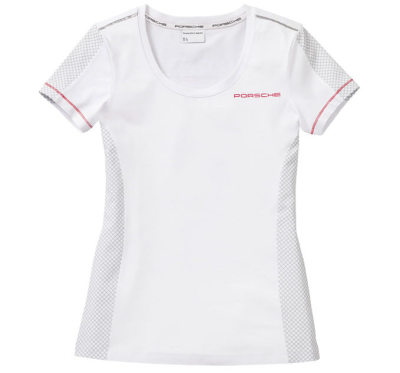 Женская футболка Porsche Women's T-Shirt, Racing, White
