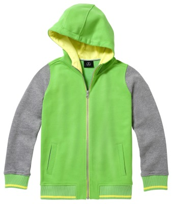 Детская толстовка Mercedes Children's Sweat Jacket, Green/Grey