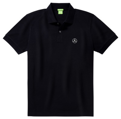 Мужская рубашка-поло Mercedes-Benz Men's Polo Shirt, Hugo Boss, Pure Black