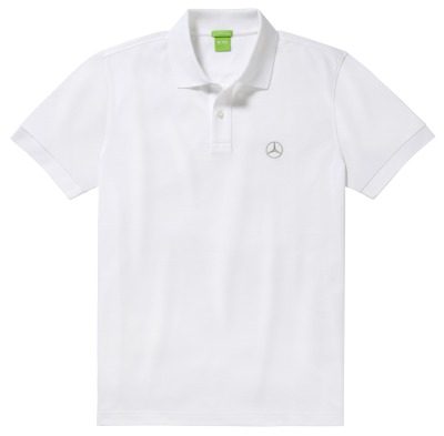 Мужская рубашка-поло Mercedes-Benz Men's Polo Shirt, Hugo Boss, Pure White