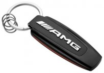 Брелок Mercedes-Benz Key Ring, AMG, Black/Silver/Red