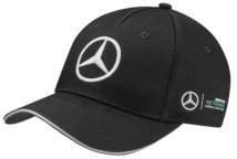 Бейсболка Mercedes F1 Team Cap, Season 2017, Black