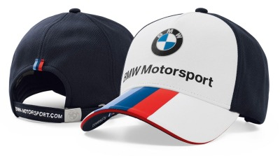 Бейсболка BMW Motorsport Fan Cap, Unisex, White / Team Blue