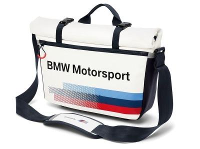 Спортивная сумка-мессенджер BMW Motorsport Messenger Bag, White Team Blue  2017 1b007144c02
