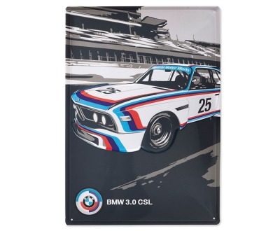 Металлическая пластина BMW Motorsport Heritage Metal Sign