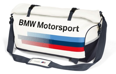 Спортивная сумка BMW Motorsport Sports Bag, White/Team Blue 2017