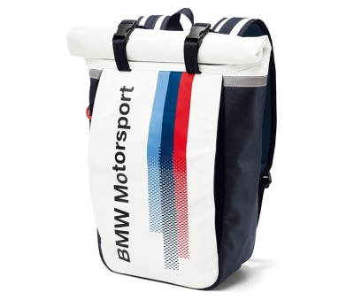 Рюкзак BMW Motorsport Rucksack, White/Team Blue