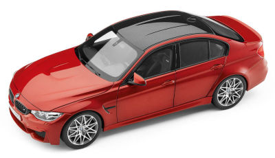 Модель автомобиля BMW M3 Competition (F80), Scale 1:18, Sakhir Orange