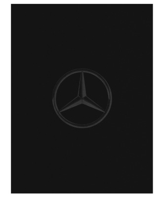 Двусторонний плед Mercedes Reversible Fleece Blanket, Black/Anthracite