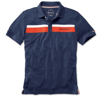 Мужская рубашка-поло BMW Golfsport Fashion Polo Shirt, Men, Navy Blue