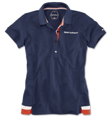 Женская рубашка-поло BMW Golfsport Fashion Polo Shirt, Ladies, Navy Blue
