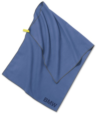 Полотенце в комплекте с сумкой BMW Active Towel, Functional, Blue / Olive