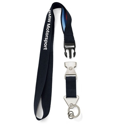 Шнурок с карабином BMW Motorsport Key Ring Lanyard, Team Blue