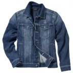 Куртка мужская джинсовая Mercedes Embroidered Denim Jacket, Men, Jeans Blue, Trucker