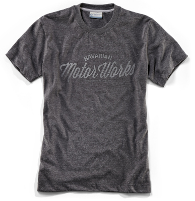 Мужская футболка BMW Motorrad T-Shirt Motor Works, for Men, Grey