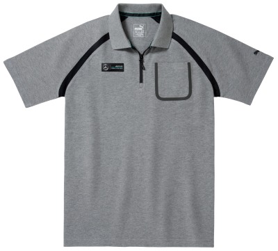Мужская рубашка-поло Mercedes AMG Petronas F1 Men's Polo Shirt, Grey