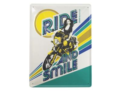 Металлическая пластина BMW Motorrad Vintage Metal Sign - R90S Ride And Smile