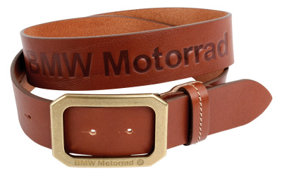 Кожаный ремень BMW Motorrad Logo Leather Belt, Brown