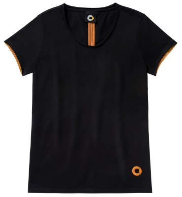 Женская футболка Smart Women's Polo Shirt, Black / Orange