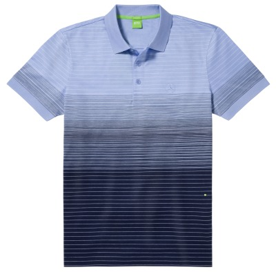 Мужская рубашка поло Mercedes-Benz Men's Polo Shirt, Boss Green, Navy / Pale blue