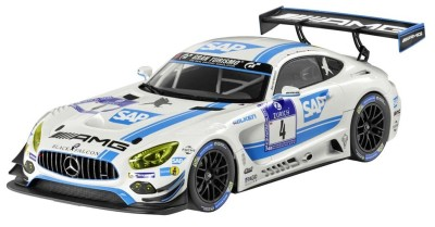 Модель Mercedes-AMG GT3, AMG-Team Black Falcon, White, 1:18 Scale