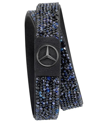 Женский браслет Mercedes Women's Bracelet, Black Edition, Swarovski