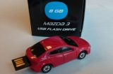 Флешка в форме Mazda 3 USB Flash Drive, 8Gb, Red, артикул 830077726