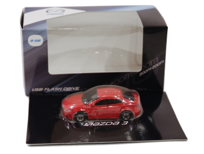 Флешка в форме Mazda 3 USB Flash Drive, 8Gb, Red