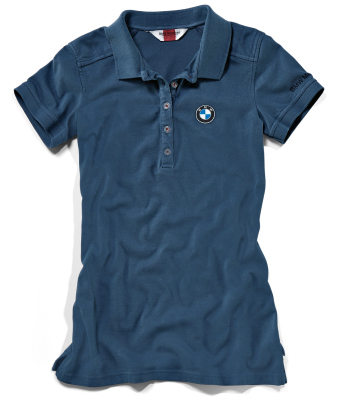 Женская рубашка-поло BMW Motorrad Logo Classic Polo Shirt, Ladies, Blue