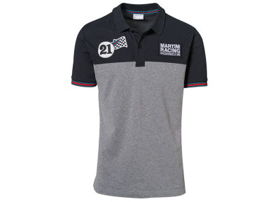 Мужское поло Porsche Men's Polo Shirt, Martini Racing Collection, Blue/Melange