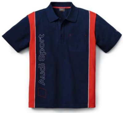 Мужская рубашка-поло Audi Poloshirt, Men, Audi Sport, Blue/Red