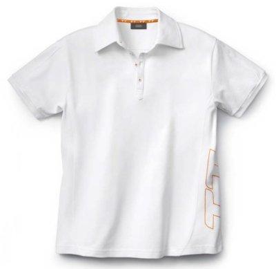 Женская рубашка поло Audi TT Poloshirt, Ladies, White/Orange