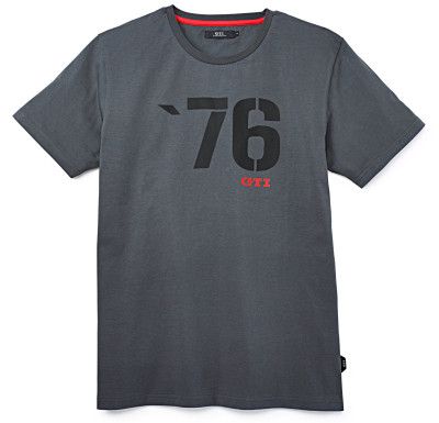 Мужская футболка Volkswagen GTI 76 T-Shirt, Mens, Grey