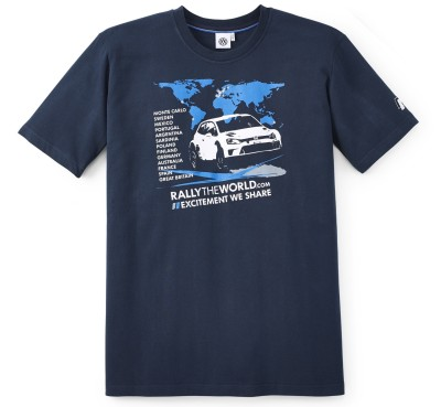 Мужская футболка Volkswagen T-Shirt, Rally The World, Men's, Dark Blue
