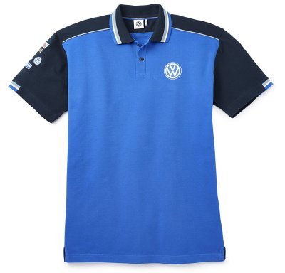 Мужская рубашка-поло Volkswagen Motorsport Men's Polo Shirt, Blue