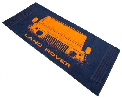 Пляжное полотенце Land Rover Towel - Defender Graphic, Blue/Orange