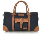 Сумка Land Rover Heritage Holdall, Navy/Brown