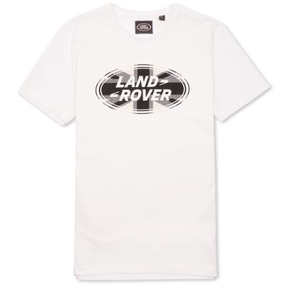Мужская футболка Land Rover Men's Union Flag Graphic T-shirt, White