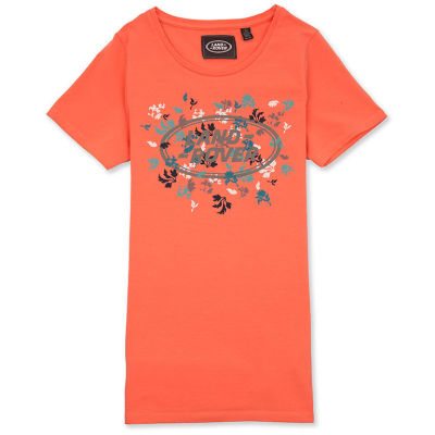Женская футболка Land Rover Women's Graphic T-shirt, Coral