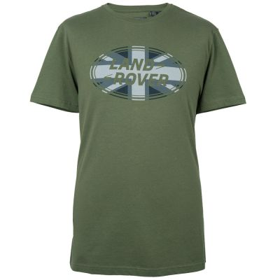 Мужская футболка Land Rover Men's Union Flag Graphic T-shirt, Green