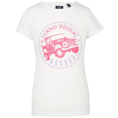Футболка для девочек Land Rover Girls Off-road Graphic T-shirt, White