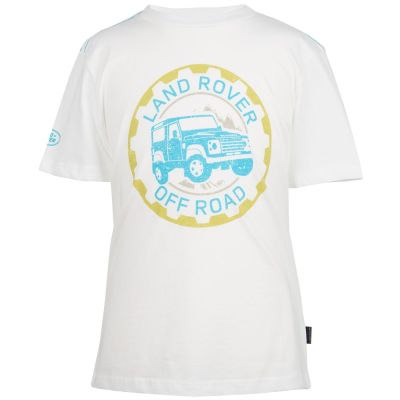 Футболка для мальчиков Land Rover Boys Off-road Graphic T-shirt, White