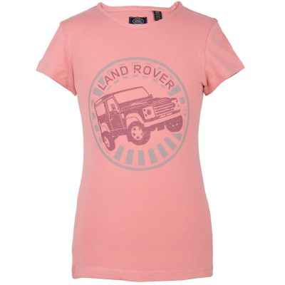 Футболка для девочек Land Rover Girls Off-road Graphic T-shirt, Pink