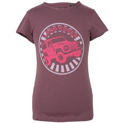 Футболка для девочек Land Rover Girls Off-road Graphic T-shirt, Plum